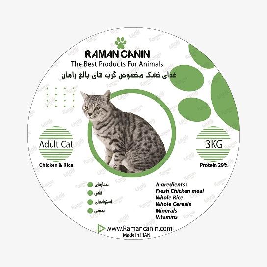غذای گربه بالغ رامان